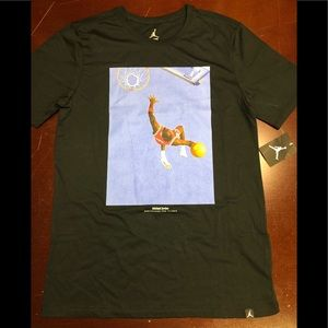 Black Jordan iconic photo T-shirt